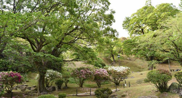 子ども連れの散歩や歴史散策におすすめ!お城への入口にある由緒ある公園